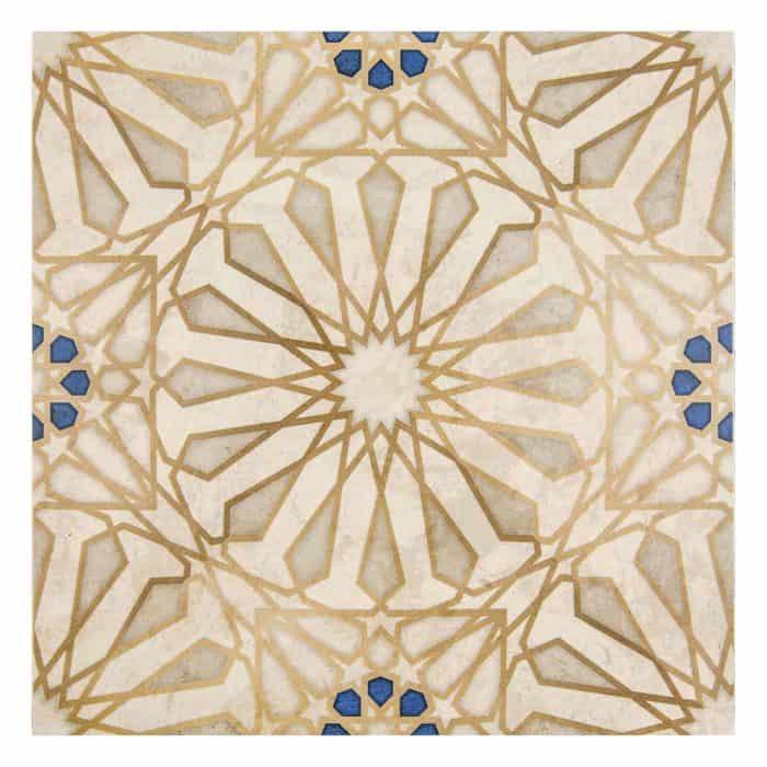 Mossalli Pattern (Gold) on Limestone