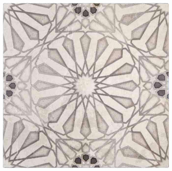 Mossalli Pattern (Silver) on Limestone