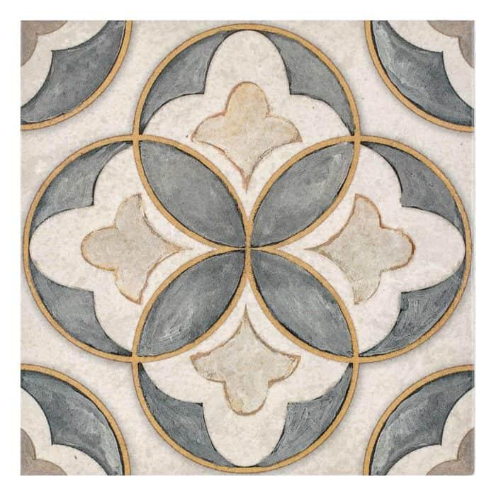 Mullholland Pattern (Charcoal) on Limestone