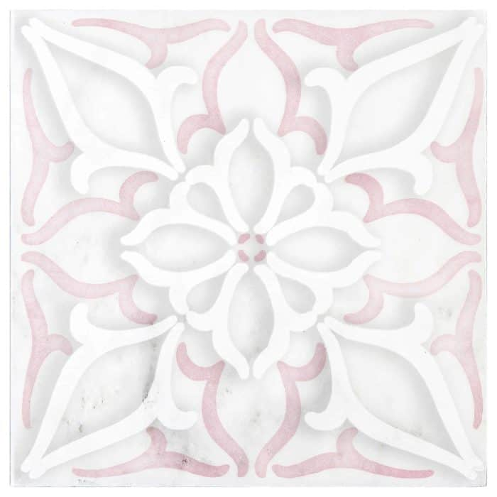 Petals Pattern (Pink) on Carrara