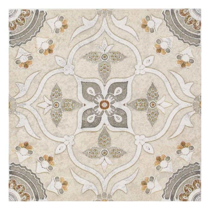 Sweden Pattern (Warm Grey) on Limestone
