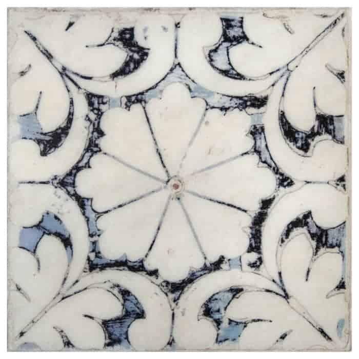 Oasis Pattern (Winter Blue) on Limestone