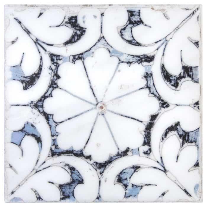 Oasis Pattern (Winter) on Carrara