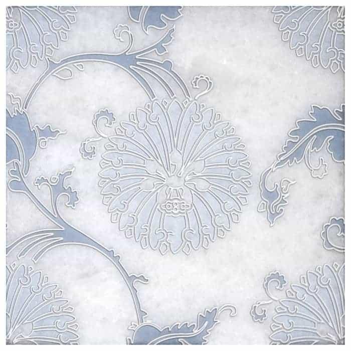 Eliana Dusty Blue on Arctic White