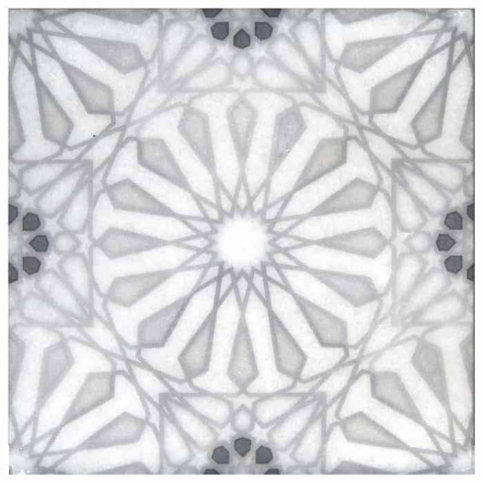 Mossalli Pattern (Silver) on Arctic White