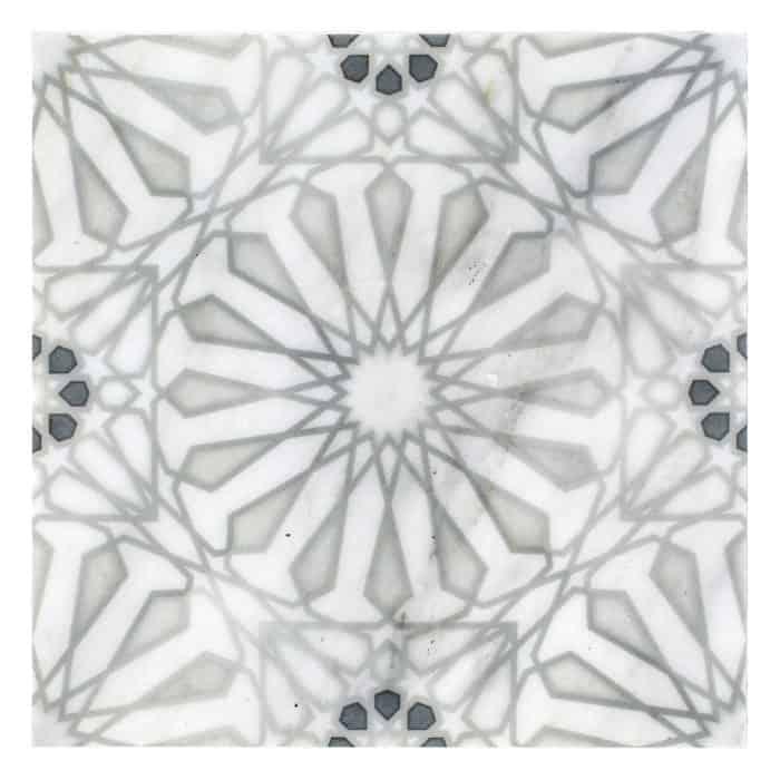 Mossalli Pattern (Silver) on Carrara more veining (1)