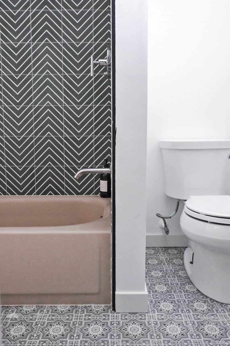 Cabrillo pattern on guest bathroom floor