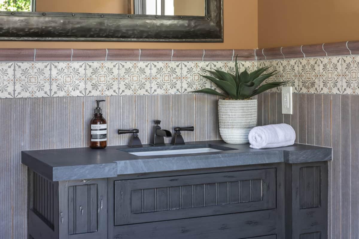 Dana point guest bathroom tile