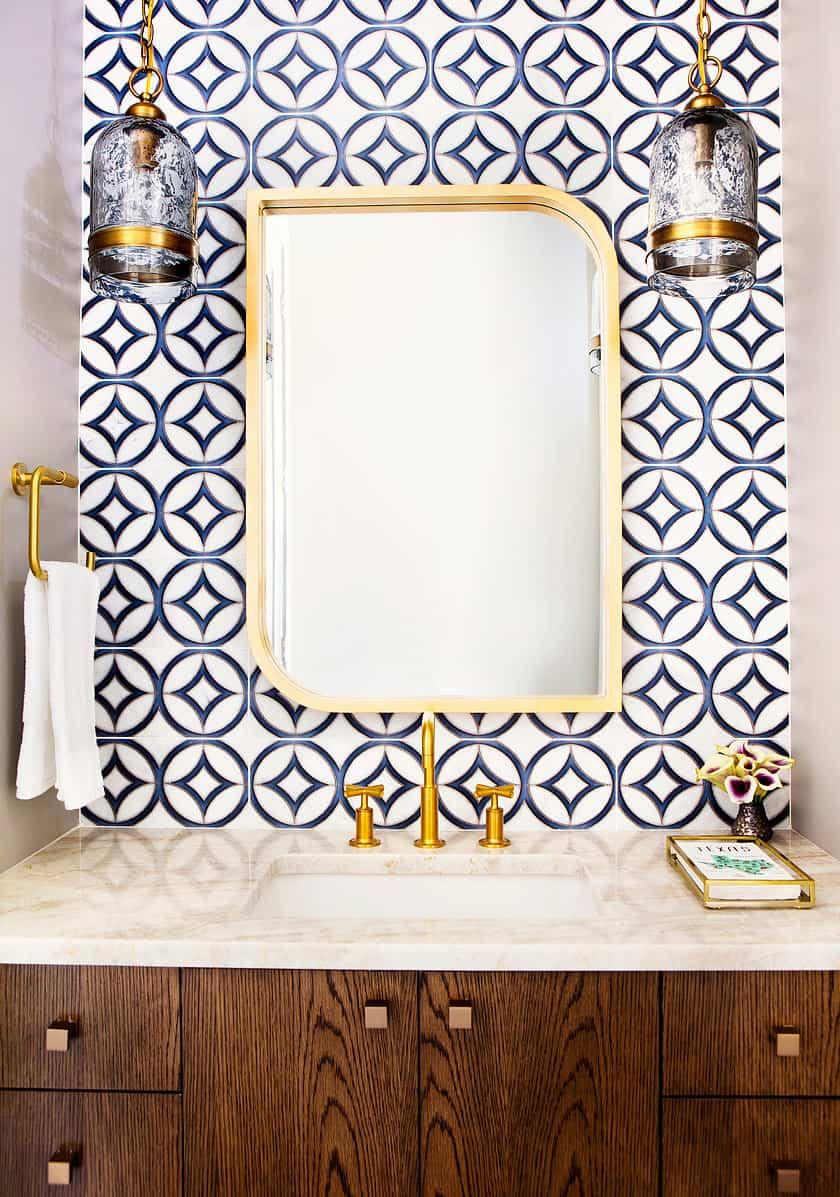 hayden dual pattern in mid century modern bathroom
